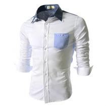 Camisa De Vestir Blanca Para Hombres