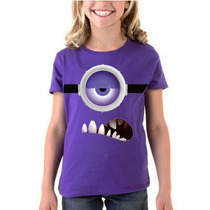 Playera Camiseta Minion Morado Mi Villano Favorito 1 O 2