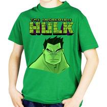 Playeras O Camiseta Green Hulk Todas Tallas 100% Calidad