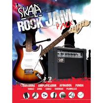 Paquete De Guitarra Electrica Skala Rock Generator Completo