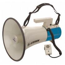 Megáfono De Hombro Steren Mg-400 Con Sirena Y Microfono
