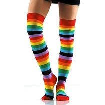 Calcetas Largas Overknee Rainbow Arco Iris Medias