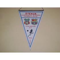 Banderin Final Champions League 1986 Barcelona Vs Steaua