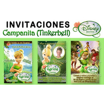 Kit Imprimible Invitaciones Cumpleaños Campanita Tinkerbell