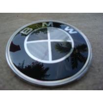 Emblema Escudo Bmw Fibra De Carbon Negro 78mm Cofre Cajuela