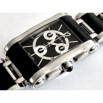 Reloj Valentino Mens Black Bracelet Chronograph Watch Rare