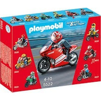 Playmobil 5522 Super Moto Carreras Ciudad Accion Retromex