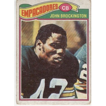 1977 Topps Mexican John Brockington Empacadores De Green Bay