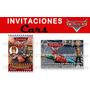 Kit Imprimible Invitaciones Cumpleaños Cars Disney Fiesta