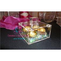 Caja De Acrilico De 10x10x5 Cm De Alto Con Tapa