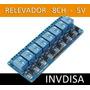 Modulo Rele Relay Relevador 8 Canales 5v Arduino Pic