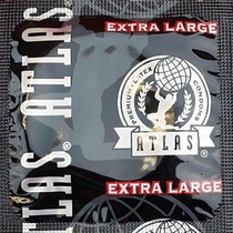 12 (doce) Condones Atlas Extra Large (extra Grandes)