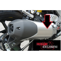 Cubierta Silenciador Escape Yamaha Fz16 Color Negro!!!