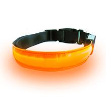 Collar Para Perro Con Luz Led Cuello De 52-60 Cm Naranja Obi