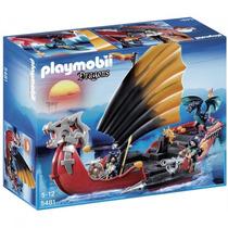 Playmobil 5481 Barco D Batalla Dl Dragon Medieval Retromex