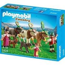Playmobil 5425 Vacas Alpinas Y Pastores Medieval Retromex
