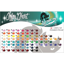 Tintas Para Tatuar Electric Ink 72 Colores Set 1 Oz. Tatuaje