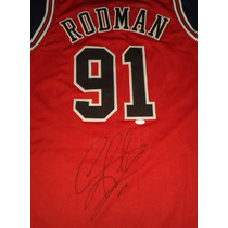 Jersey Autografiado Firmado Dennis Rodman Chicago Bulls Nba