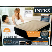 Colchon Inflable Intex Doble Altura Queen Size
