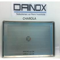 Charola Perforada 45x66cm De Acero Inoxidable