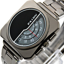 Reloj Paidu Acero Inox. Placa Giratoria Marcación Hora/min/s