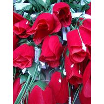 5 Docenas Rosas Artificiales Terciopelo Flores San Valentín