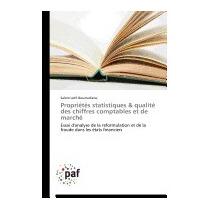 Proprietes Statistiques & Qualite, Boumediene Salem Lotfi