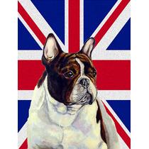 Bulldog Francés Con Inglés Union Jack Británica Bandera D