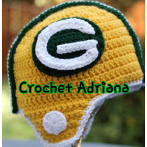 Gorro Tejido Bebé Futbol Amercano Crochet