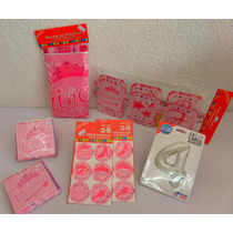 Paquete Complementos Princesa Desechables Fiesta