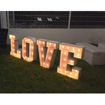Letras Gigantes Vintage Iluminadas Love, Bodas Fotos Eventos