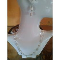 Collares Piedras Perlas En Plata Fina Ley .925 Taxco Gro.