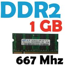 Memoria Ram 1 Gb Ddr2 667 Mhz Pc2-5300 Para Laptop Garantia