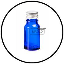 Frasco De Vidrio Azul 10ml 25 Pzas (envases Botella, Maoldi)