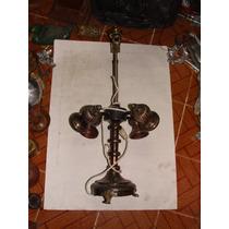 Antigua Lampara En Bronce Plateado Para Restaurar, Le Faltan