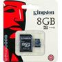 Memoria Micro Sd 8gb Kingston Celulares Tablets Camaras Etc