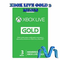 Xbox Live Gold 3 Meses Membresia Envio Rápido Y Gratis