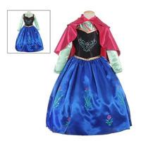 Vestido O Disfraz Ana Frozen Incluye La Capa