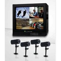 Sistema De Cctv Monitor 21 Y 4 Camaras A Color Con Audio