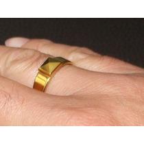 Anillo Pirámide Tungsteno Oro 24k Matrimonio Boda Compromiso