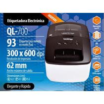 Brother Ql-700 Etiquetadora Electrónica De Códigos De Barra