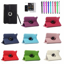 Funda Piel Ipad 6 Air 2 Giratoria 360 + Mica + Stylus Regalo