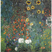 Lienzo Tela El Girasol Gustav Klimt 1906 50 X 50 Cm Cuadro