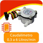 Sensor De Flujo De Líquidos. Caudalímetro 0.3-6 Litros/min