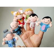 6 Títeres Para Dedo Guiñol Familia