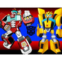 Kit Imprimible Transformers Rescue Bots Diseñá Tarjetas 2x1