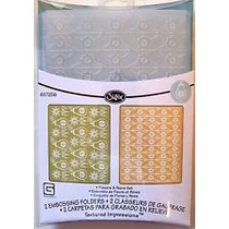 Scrapbook Sizzix Embossing Folders Flowers & Pears Set