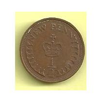 Moneda Inglaterra (gran Bretaña) 1/2 Penny (1971) Corona