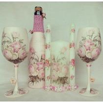 Copas Para Boda, Botella Y Velas. Myweddingglasses.