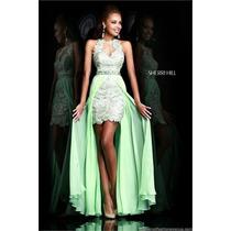 Vestido Fiesta Noche Alta Costura Sherri Talla 4 $580 Dlls
